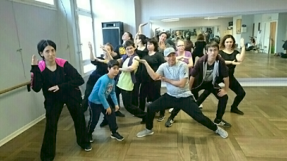 Stage de hip hop avec David Mathor
